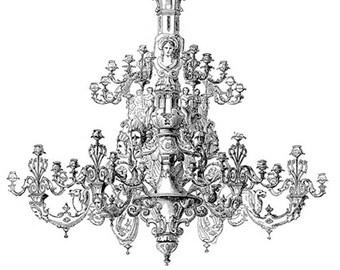 Victorian Chandelier No.0155- Image Download