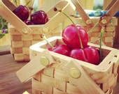 6 Miniature Wooden Picnic Baskets with Lid for DIY Wedding and Party Favors - LittleThingsFavors