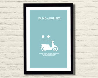 Dumb and Dumber Movie Poster Art Print 11x17, Modern Poster, Home Decor