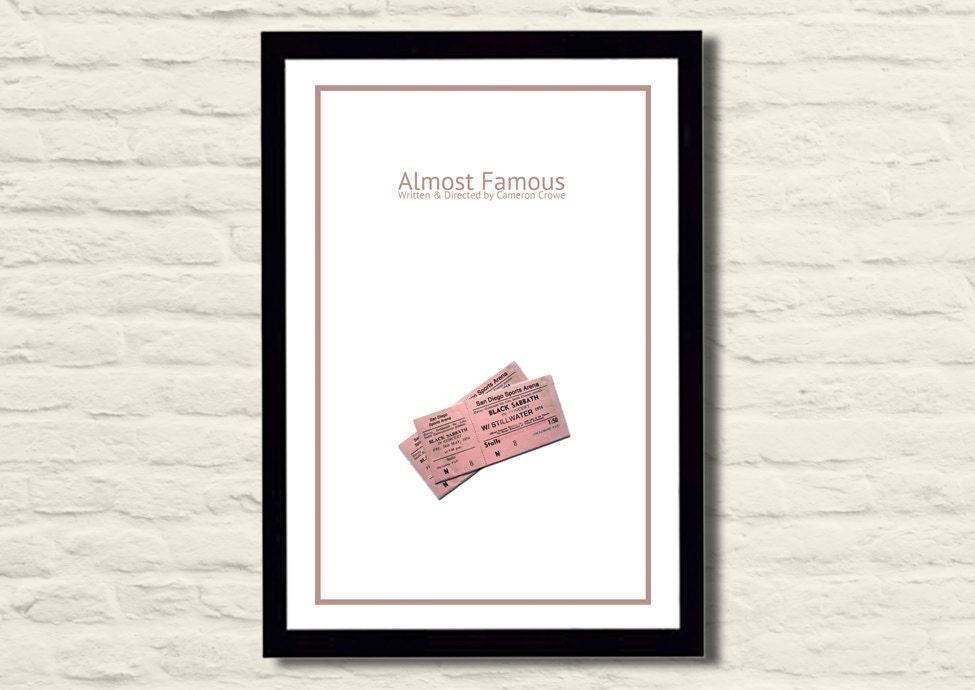 Almost Famous Movie Poster Art Print 11 X 17 Modern Poster