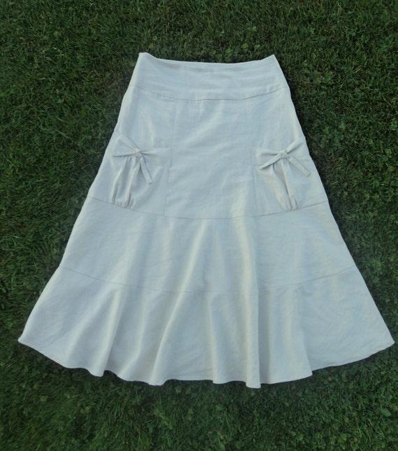 Ladies Linen Aline Skirt