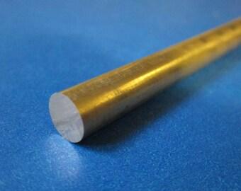 """1/4"""" (.25) Brass Round Rod, Alloy 360"""