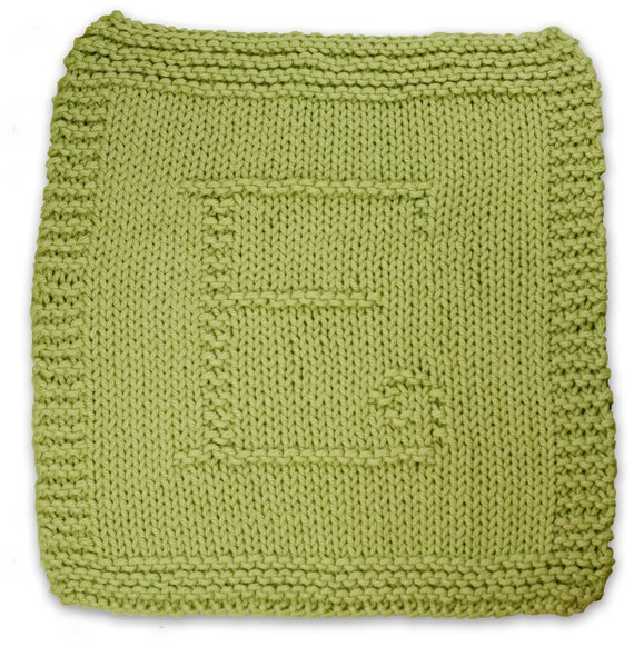 Knitted Dishcloth Pattern With Letters : Initial Knitting Patterns--A PDF Collection of Dishcloth ...