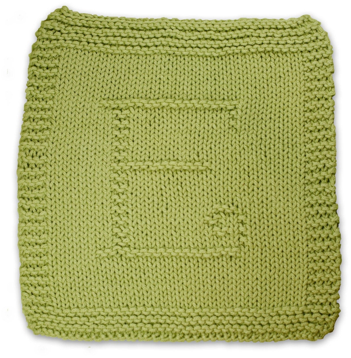 Knitting Cursive Letters : Initial knitting patterns a pdf collection of dishcloth