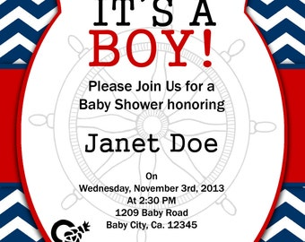 Print Your Own - Nautical Baby Shower Invitation