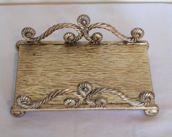brass guest towel tray