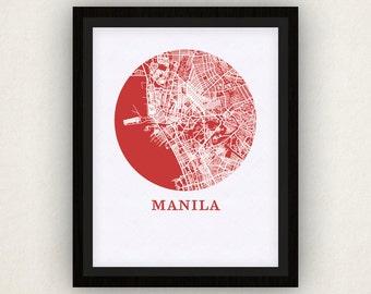 Manila Map Print - City Map Poster