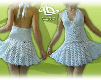 MADE TO ORDER Crochet Dress custom made, hand made, crochet - 100% cotton