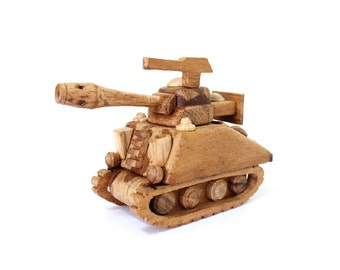 Wooden Toy Tank in Handmade