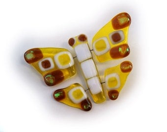 Golden fused glass Butterfly