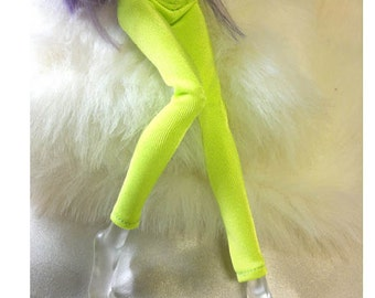 Dolls trousers pants  for Monster high doll  Fluorescent Green   MH063