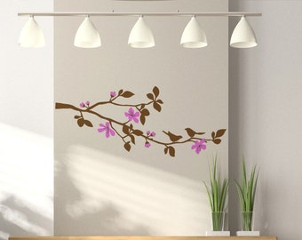 Cherry Blossom Branch Wall Decal, Childs Tree Branch Wall Art Vinyl Decal, size MEDIUM - Cherry Blossom, Tree Branch Wall Decal