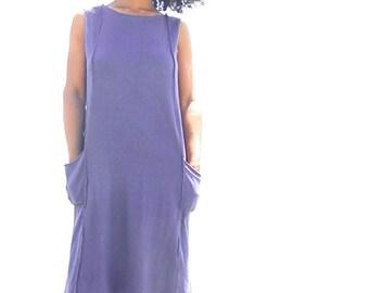 The Mysore hi-lo shift dress. Organic cotton hemp. Made to order.