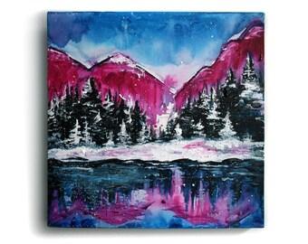 SALE Original Reflections Paint on Canvas- 12 x 12