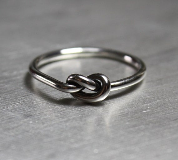 silver knot ring silver ring promise ring