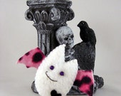 Anti-Valentine Batling Keychain Charm Plush - White Pink Leopard