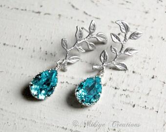 Bridemaid Earrings, Wedding Earrings,  Bridesmaid Jewelry, Wedding Accessories - Chandelier Swarovski Crystal Cubic Zirconia Drop Earrings