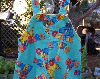 Vintage Sesame Street Toddler Overalls