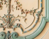Versailles Door Photograph, Paris Photography, French Home Decor, Romantic Wall Art, Floral Shabby Chic Print, Pastel Blue - Rococo