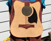 RESERVED - Corduroy Acoustic Guitar Backpack