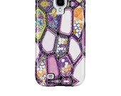 Samsung Galaxy S4 Case,  ,  purple,  pattern, Funky, Abstract, Art, Samsung, GalaxyS4, phone cases, Galaxy S6 Case