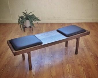 Olson Platform Bench - Mid Century Modern Furniture Design