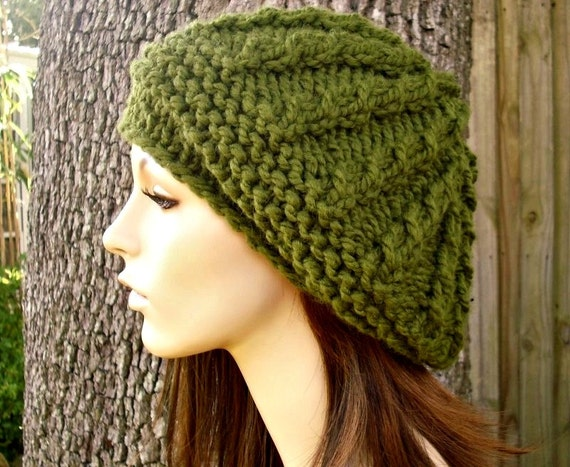 Instant Download Knitting Pattern - Knit Hat Knitting Pattern - Knit Hat Pattern - Big Rasta Thumb Cable Beret Pattern - Womens