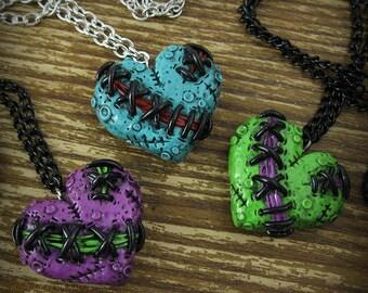 Zombie Heart Necklace Tiny