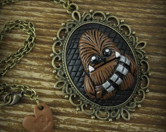 Chewbacca Inspired Cameo Necklace