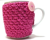 Hot Pink Coffee Cup Cozy Cup Cozies