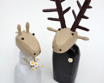 Bride and Groom Deer