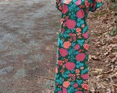 80's floral maxi dress -  island getaway -  by Freestyle Collection