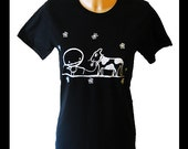 Zombie & Cow Friend Vegan Rocky The Zombie t-shirt in black Climate Neutral