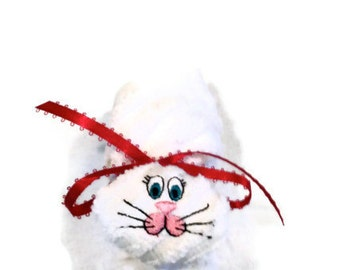 Ice Pack Embroidered Boo-boo Bunny Rabbit White Gift Basket