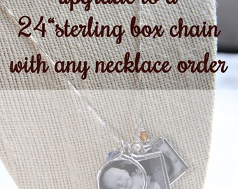 24 inch Sterling box chain