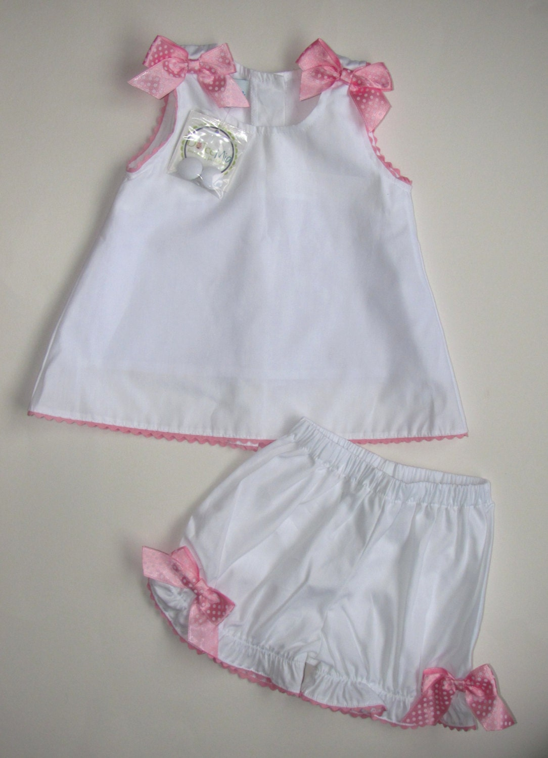 Personalized baby girl outfit clothes bloomer and blouse
