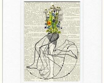 Fresh wild Flowers Runner print