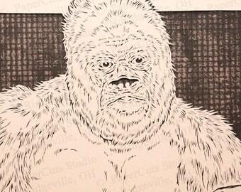 Gorilla Papercutting- Handcut Original