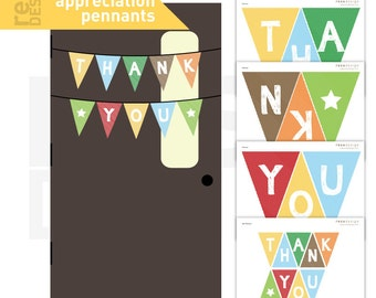 Teacher Appreciation Pennant, Thank You Pennant, Thank You Banner
