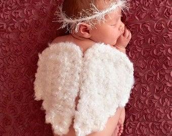 Crochet Angel wings Halo,newborn photography prop baby photo prop unique prop Custom baby gifts