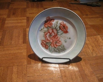 Vintage  Floral Plate with Gold Trim by Stonegate