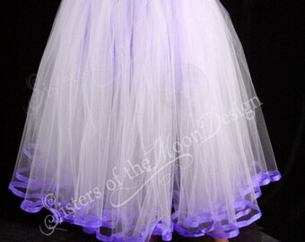 Custom Color Floor length Adult tutu skirt petticoat trimmed underskirt bridal wedding prom You Choose Size and colors - Sisters of the Moon