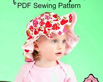 Ruffle Sun Hat Sewing Pattern for all sizes