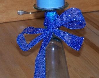 blue 'glass' candleholder