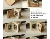 Teddy Bear Photo Album Printable  1:12 scale Project, Dollhouse Miniature Book Instant Download  DH010