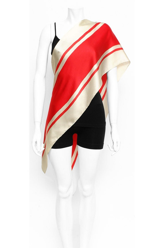 Striped Scarf, Racing Scarf, Red scarf, Hand Painted scarf, Motorcycle, Car scarf, Neck scarf men, Cool gifts for women, Luxury gifts