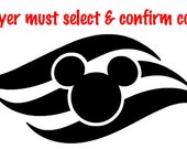 Disney Cruise Line logo vinyl decal, sticker - NEW