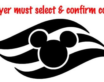 Disney Cruise Line logo vinyl decal, sticker - NEW
