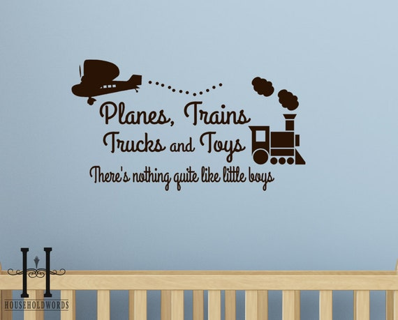 Items Similar To Planes Trains Trucks And Toys Wall Decal