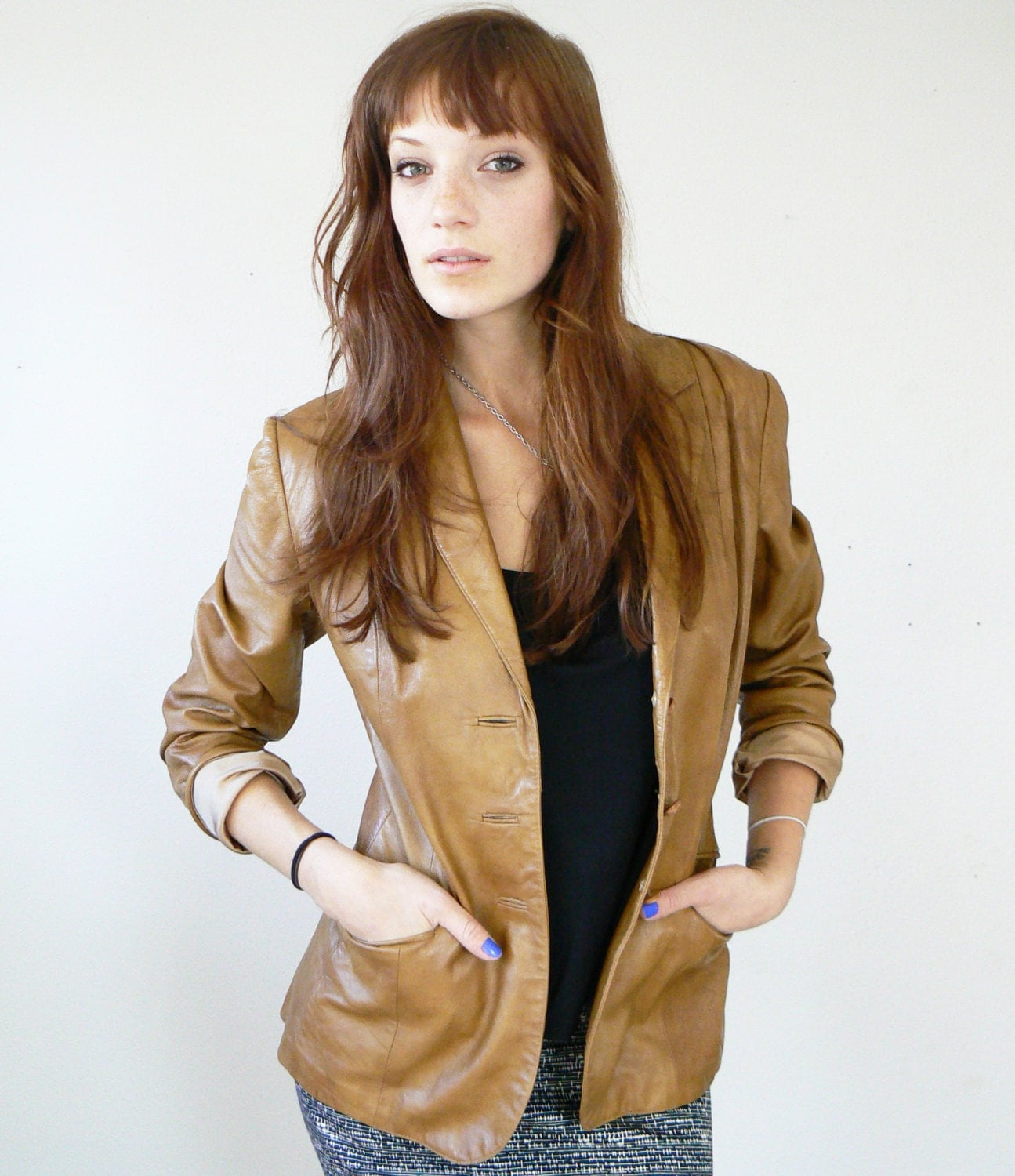 Unobtrusive Research Methods: 1970s Peter Caruso Genuine Leather Jacket